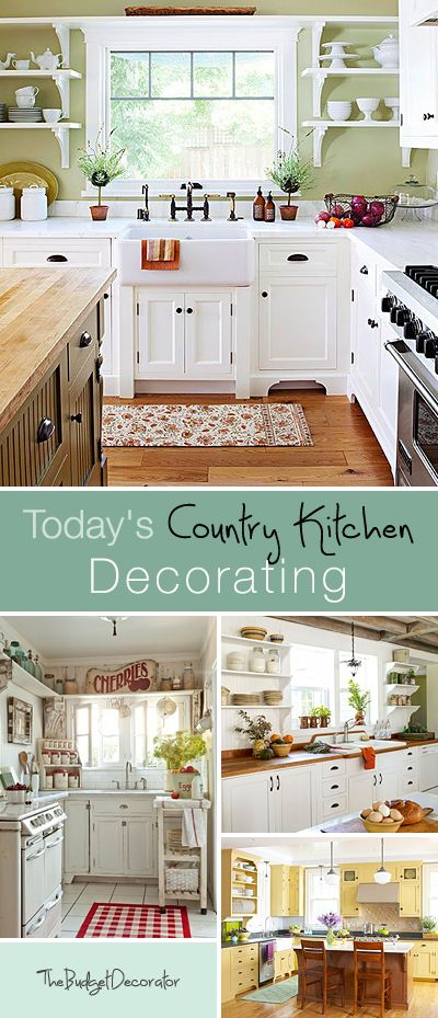 Today's Country Kitchen Decorating • Tips & Ideas on how to decorate a country kitchen!