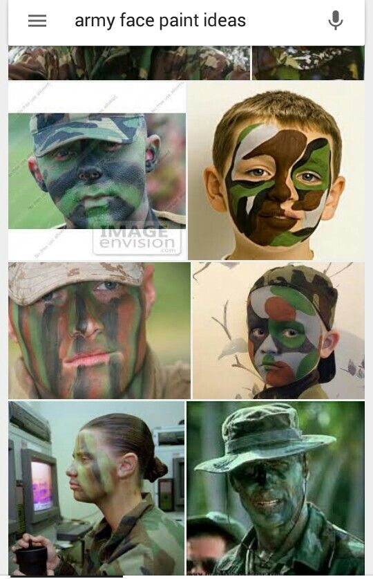 Army face paint