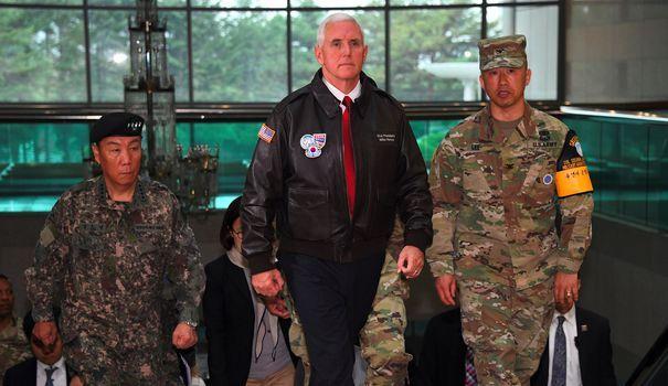 Corée du Nord: en visite près de la frontière, Mike Pence n'exclut aucune option                                                                                 En déplacement dans la zone démilitarisée, le vice-président de Do... http://www.lexpress.fr/actualite/monde/asie/coree-du-nord-en-visite-pres-de-la-frontiere-mike-pence-n-exclut-aucune-option_1899522.html