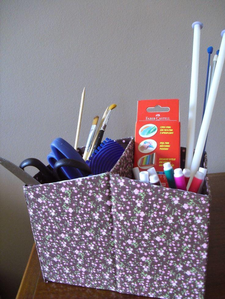 Artesanato: Moldes e PAP´S : Um Projeto por Mês - Caixa Organizadora