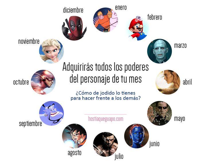 https://flic.kr/p/FYUQe4 | Zodíaco de superpoderes | Juegos para compartir en las redes. Hostiaqueguapo.com