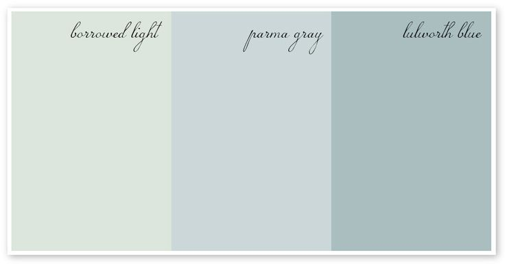 Farrow & Ball Paints ~ Love the 'Borrowed Light'