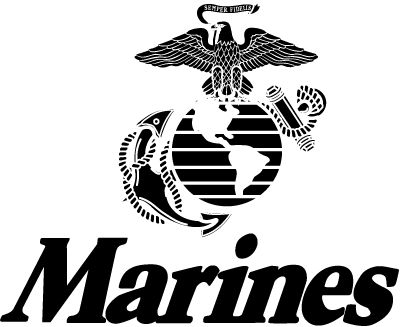 #USMC #military #veterans U.S. Marines logo - Post Jobs and Become a Sponsor at www.HireAVeteran.com