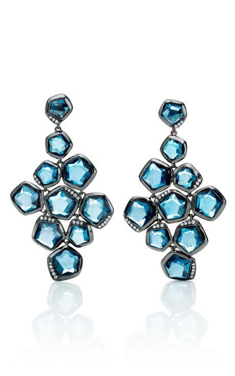 Ippolita Wicked Blue Topaz Cascade Earrings