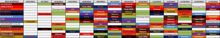 SEC Football Schedule 2013 | College Football | South Eastern Conference