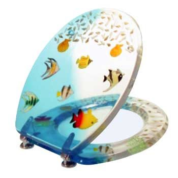 12 best images about kids 39 bathroom on pinterest wall for Fish toilet seat