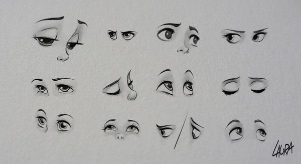 Disney eyes practice by dennia.deviantart.com on @deviantART