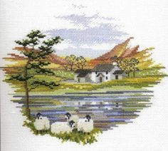 Free winter scenery in cross stitch | ... english autumn free cross stitch patterns free charts and designs
