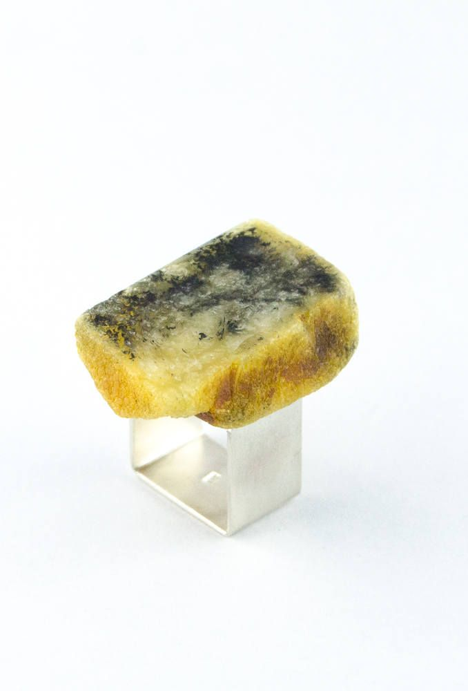 Amber Ring, sterling Silver 925 yellow,green, bärnsten,genuine amberstone,modern design,for she,giftbox,New,UNIQUEHandmade von JewellerWithSoul auf Etsy