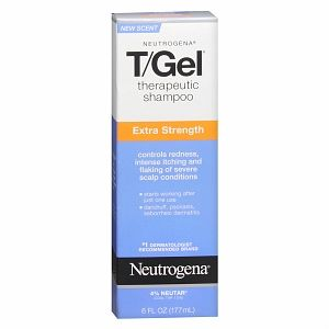 Neutrogena T-Gel Shampoo, Extra Strength, 6 fl oz (070501094501) Therapeutic Shampoo Extra Strength 4% Neutar Exclusive to Neutrogena #1 Dermatologist Recommended Brand   Controls redness, intense itching and flaking of severe scalp conditions   Controls the symptoms of::    psoriasis  seborrheic dermatitis   Neutrogena T Gel Extra Strength Formula Therapeutic Shampoo is recommended by dermatologists to effectively control even the most resistant scalp conditions.    Contains twice the…