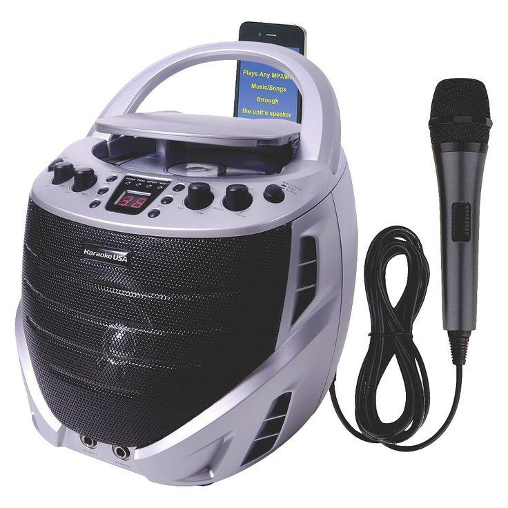 Karaoke USA Portable Karaoke CDG Player - Silver (GQ367)
