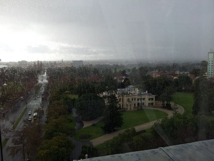 Looking over Government House Adelaide South Australia on a very wet day June 2015