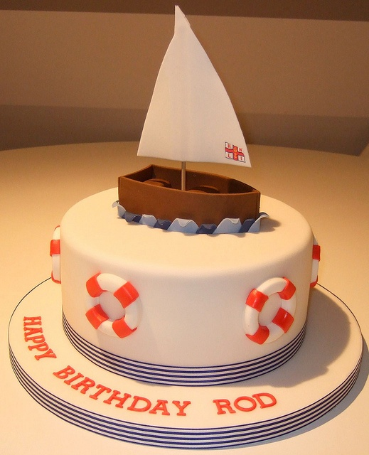 Alex says he wants a Sail boat cake in April