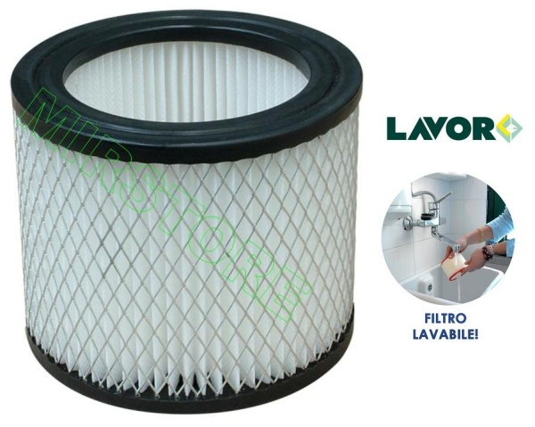 FILTRO CARTUCCIA LAVABILE PER ASPIRACENERE ASHLEY 800/EVO/DOUBLE
