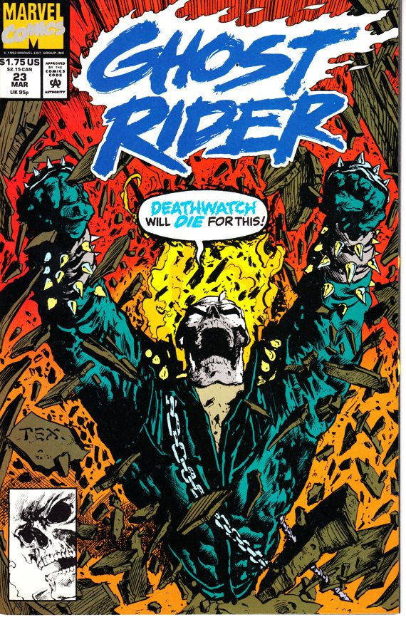 Ghost Rider 1990 2nd Series 23  March 1992 Issue  by ViewObscura