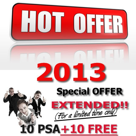 Targeted Online Advertising share - 10 PSAs GUARANTEED + 10 for FREE Extended OFFER