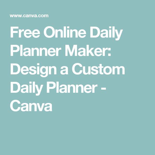 online daily schedule maker