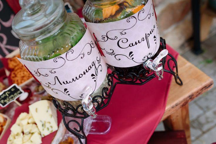 Винная свадьба. Сырный стол. Сангрия и лимонад.