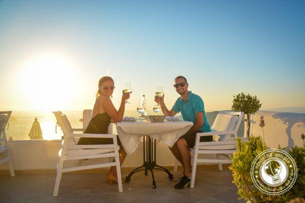 "The Ultimate Romantic Dinner Experience – Dining in Santorini ( http://acruisingcouple.com/2015/08/the-ultimate-romantic-dinner-experience-dining-in-santorini/) Thank you ""A Cruising Couple""!!"