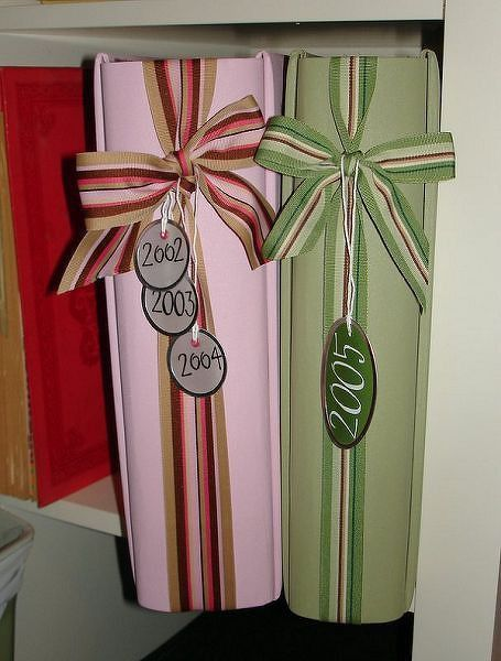 Pinterest Inspiration   Embellished Album Spines - Two Peas in a Bucket by Amanda Rosenplot
