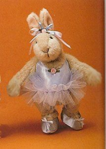 *1991  Paw De Deux Hoppy ~Ballerinas At Ballet Class  ~Tulle tutu, blue satin ballet shoes and matching leotard decorated with a pink satin ribbon rose at the neckline, pink and blue satin ribbon headbow with a satin ribbon rose in the middle. Fully jointed.
