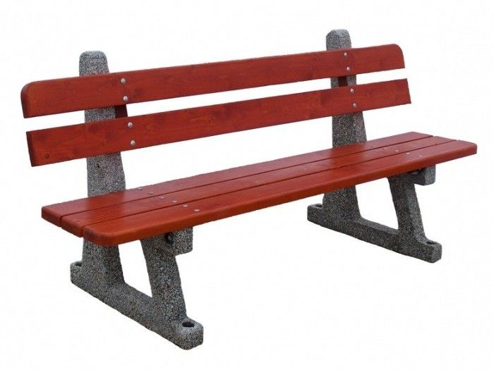 Ławka betonowa  Wysokość cakowita(cm): 75 Wysokość siedziska (cm): 42 Długość całkowita (cm): 200 Szerokość cakowita (cm): 63 Waga (kg): ok.180 Grubość listew (cm): 4 Części metalowe zabezpieczone farbami antykorozyjnymi lub ocynkowane.  Sposób przytwierdzenia do podłoża - na kostce lub asfalcie poprzez przykręcenie kołkami rozporowymi na miękkim podłożu poprzez kotwienie specjalnych prefabrykowanych fundamentach. Więcej na www.cityarch.eu