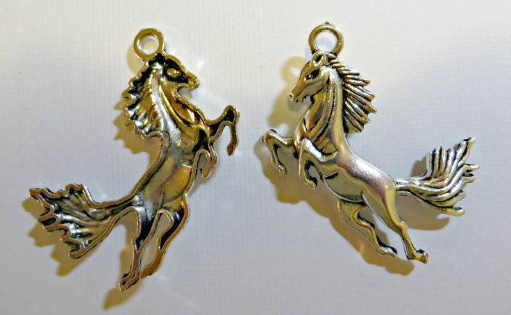 Charms Mustang Bronco Horse Silver Plated Lot of Five by FabulousFunFashion on Etsy
