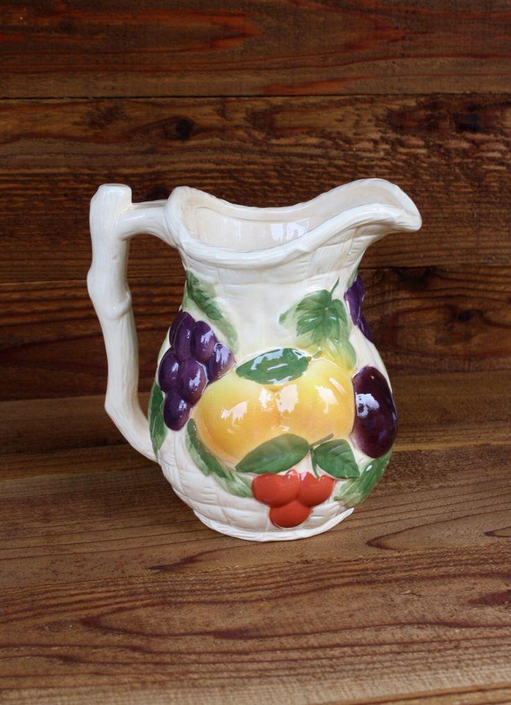 Vintage Avon Harvest Pitcher by NanasAtticFairy on Etsy https://www.etsy.com/listing/207397108/vintage-avon-harvest-pitcher