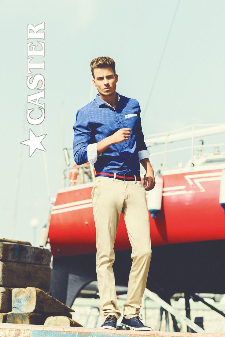 """Viste con clase y mucho estilo con este outfit de """"Mediterránea"""" Sobre una base de tostado, color tendencia de la temporada, el azul de mar."""