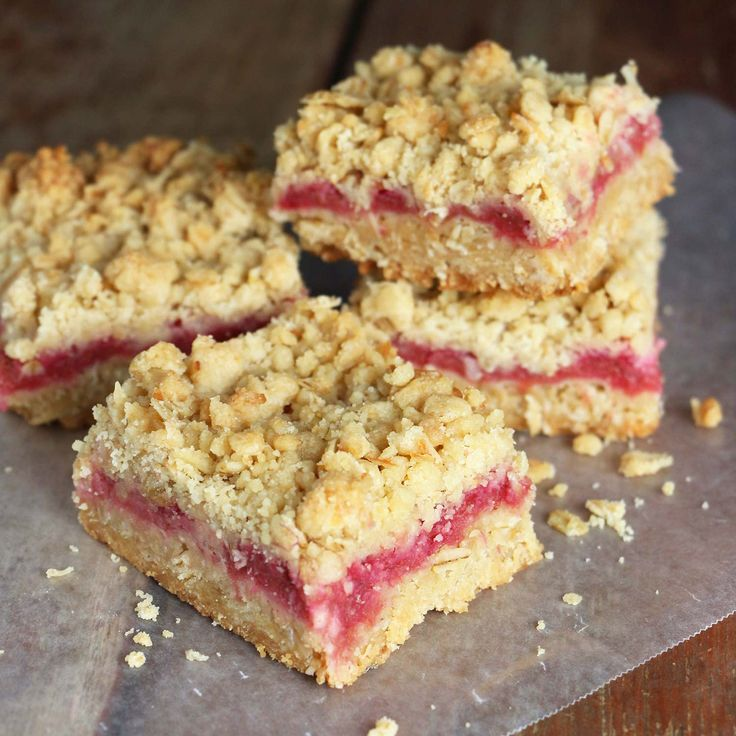 You're going to want to make these bars! The combination of rhubarb filling with oatmeal-coconut crust and crumble topping is totally delicious.