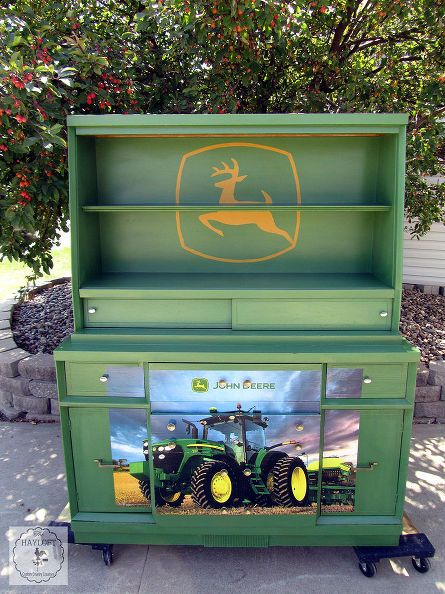 painted furniture dresser john deere green, bedroom ideas, painted furniture, painting