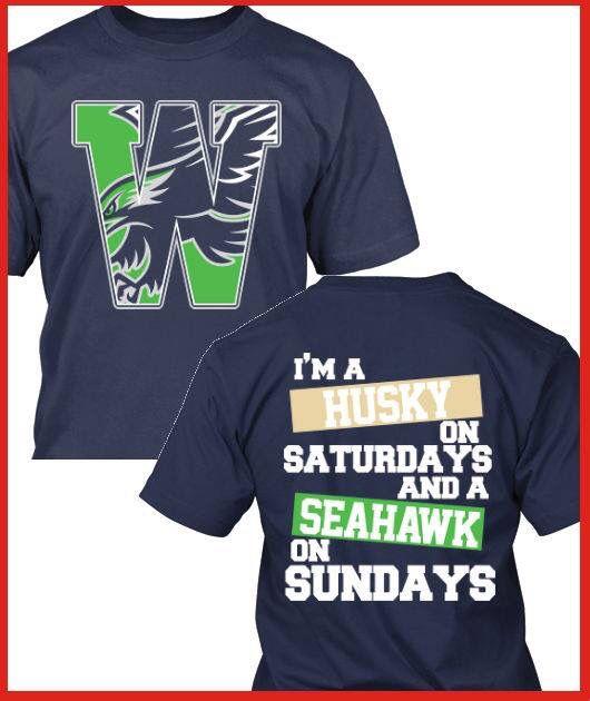 UW and Seahawks fan shirt!  fabbeadae
