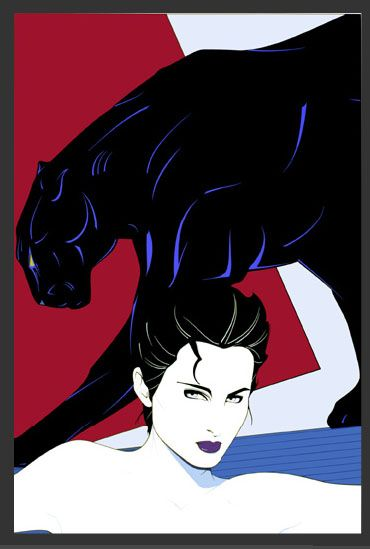 Patrick Nagel 1945 - 1984 famous for his art deco approach to fashion illustration and known for his contributions to playboy magazine.