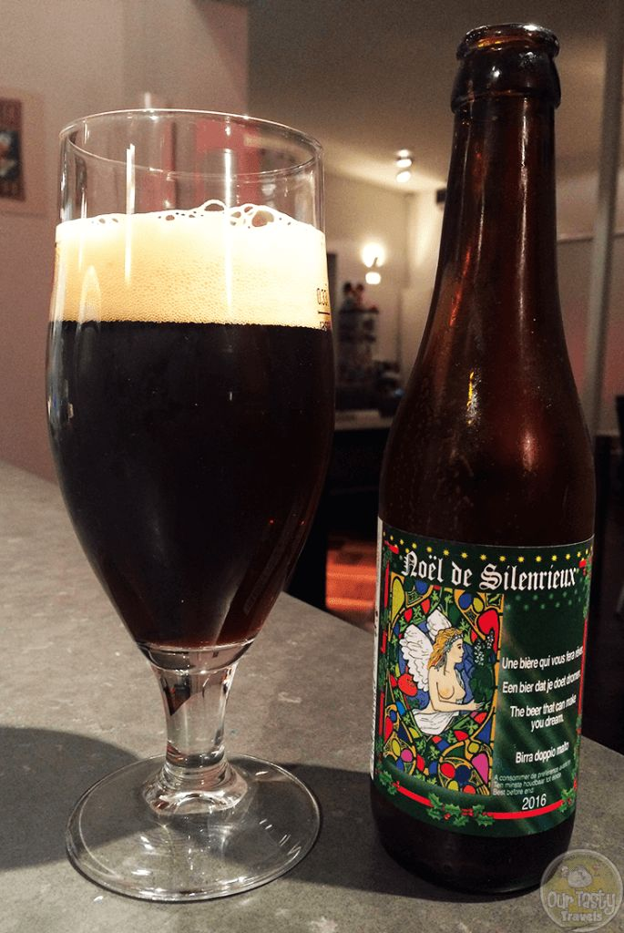 """03-Dec-2015: Noël De Silenrieux by Brasserie De Silenrieux. """"The Beer that can make you dream."""" A little sweet, but rather tasty. Has a nice balance of alcohol and flavor. A little fruity. Reminds me of some of the better dark Trappists. 9% ABV. #ottbeerdiary #ottadvent15"""