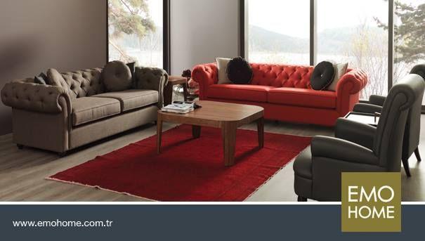 Klasik #koltuk takımlarının #modern çizgilerle buluştuğu diva koltuk takımı evinize şıklık katıyor.
