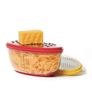 From freshly grated Parmesan on Italian night and cheddar on taco Tuesdays to shredded carrot for salads at family barbecues, this grater does it all. The convenient container makes it easy to measure out ingredients and keeps extra shredded cheese fresh for the next meal.