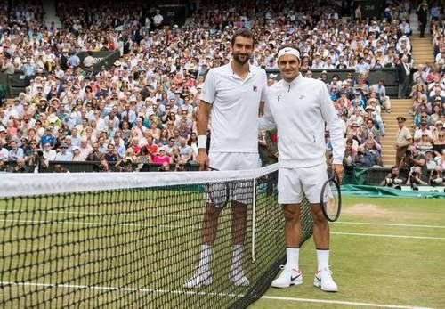 Seven-time champion Roger Federer takes on former US Open winner Marin Cilic on Centre Court with the gentlemen's single title on the line. Wimbledon, July 2017