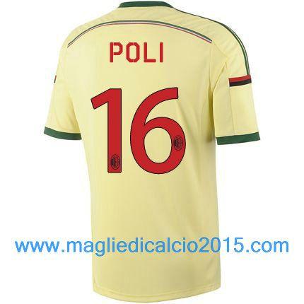 AC Milan magliette da calcio 2014/2015 Poli 16-Trasferta