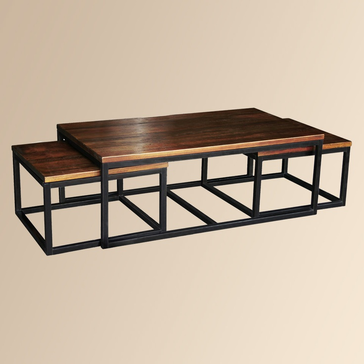 Palmer Nesting Coffee Table Mango Wood Top And Solid Iron Base. Nesting  TablesHouse FurnitureLiving Room ... Part 80