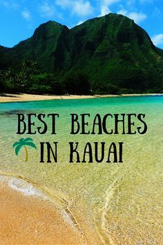 Best Beaches In Kauai, Hawaii. Don't forget when traveling that electronic pickpockets are everywhere. Always stay protected with an Rfid Blocking travel wallet. https://igogeer.com for more information. #igogeer