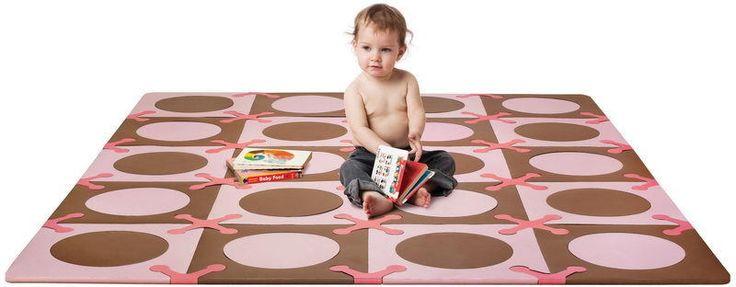 Skip Hop leikkialusta / palapeli, Playspot Pink-Brown
