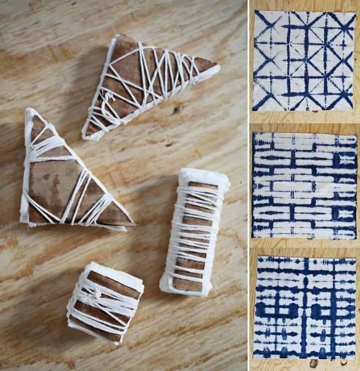 Textilien färben mit der Shibori Technik – 18 Ideen für DIY Shibori-Muster
