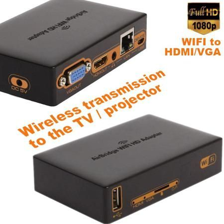 1080P Wi fi to Hdmi/VGA Wireless Wi fi Adapter HDMI Transmitter To Projector TV Support iOS LAN/DLNA/Miracast HD media adapter  — 4050.41 руб. —