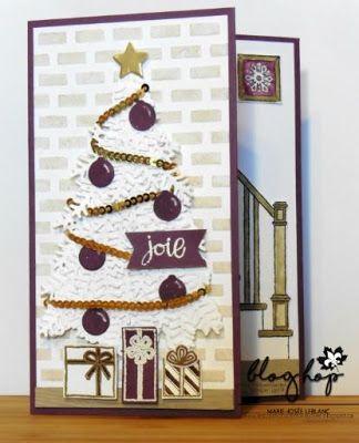 Les créations de Marie-Josée: Blog Hop de décembre Noël non traditionnel #readyforchristmas #scrapbooking #card #pretpournoel