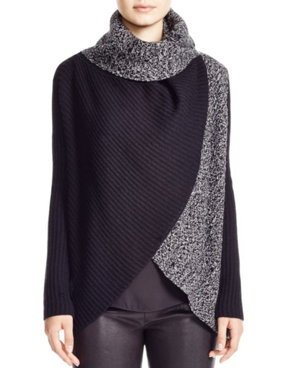Elie Tahari Nikki Two Tone Turtleneck Sweater | Bloomingdales's