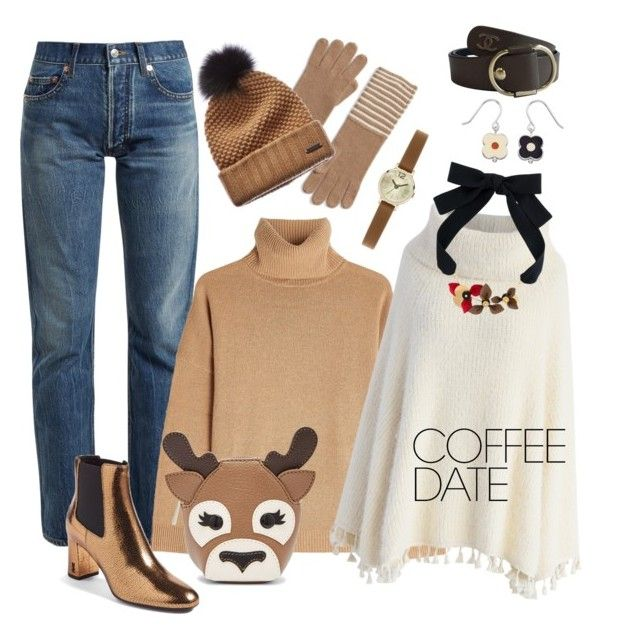 """""""#47 Time For Coffee"""" by natahaya ❤ liked on Polyvore featuring MICHAEL Michael Kors, Balenciaga, The Kooples, Chicwish, Yves Saint Laurent, Burberry, Relic, Chanel, Orla Kiely and Marni"""