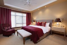 burgundy bedroom - Google Search