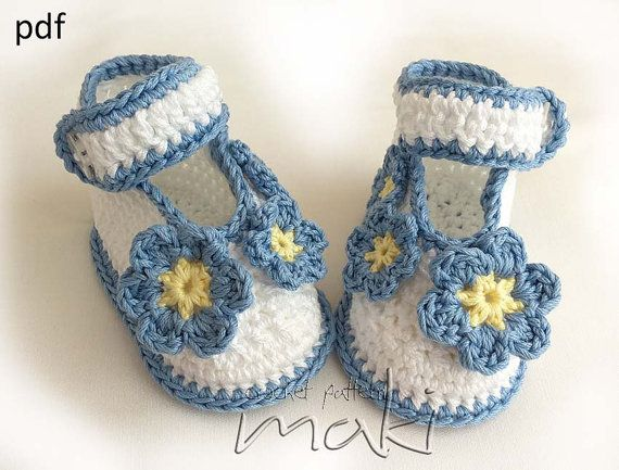 Baby crochet pattern  booties ballerina  Forget Me ♥ by MakiCrochet, $4.00