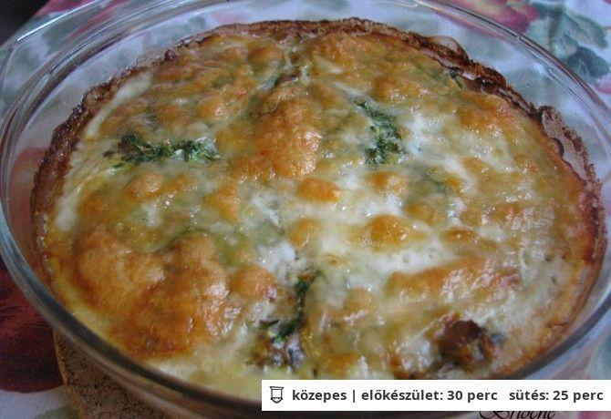 Gombás-mozzarellás pite reform linzertésztából