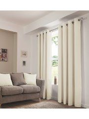 George Home Cream Eyelet Curtains